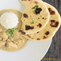 Indisches Hähnchen-Curry mit Naan-Brot
